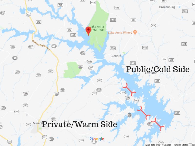 Lake Anna Map